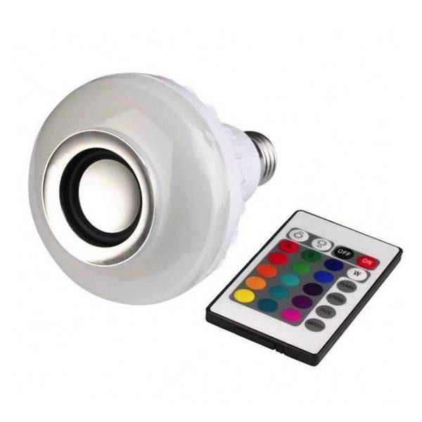 Bec wireless cu boxa audio, 12W, LED, bluetooth