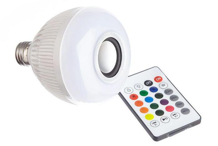 Bec wireless cu difuzor, 12W, LED, bluetooth, telecomanda