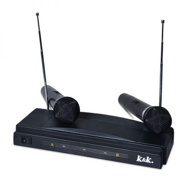 Set microfoane wireless cu receiver, AT-306