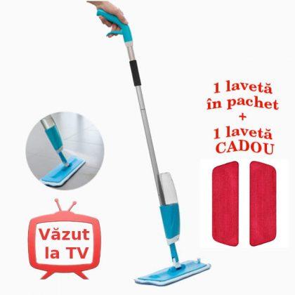 Mop spray cu rezervor + laveta din microfibre