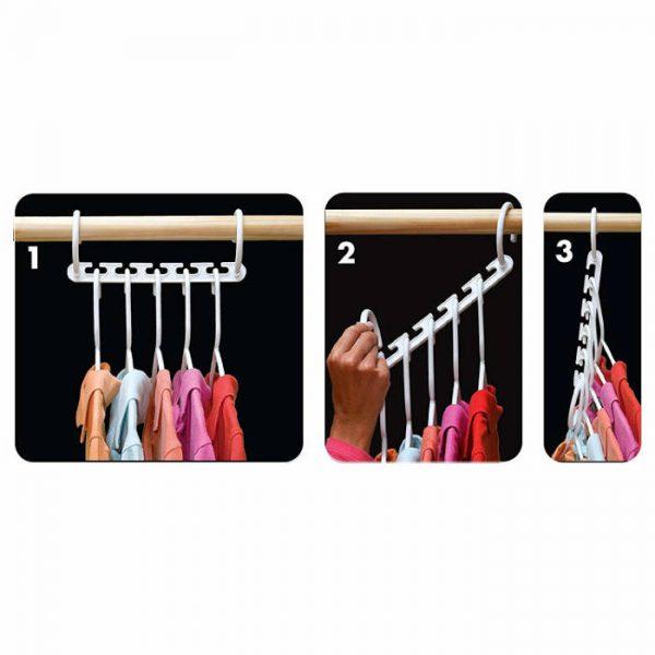 Organizator de umerase pentru haine, set 8 bucati