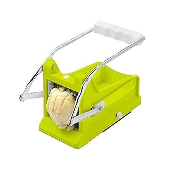 aparat pentru feliat cartofi, legume și fructe, verde