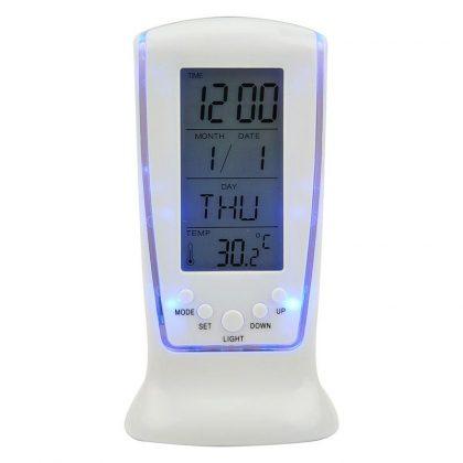 Ceas cu alarma si termometru, afisaj digital LCD