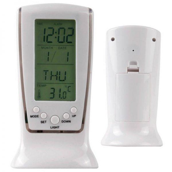 Ceas cu alarma si termometru, afișaj digital LCD
