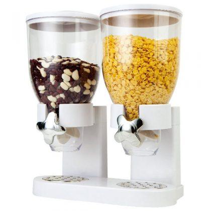 Dozator dublu cereale, capacitate totala 7 litri
