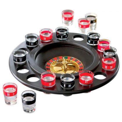 Joc de ruleta cu pahare de sticla pentru shoturi
