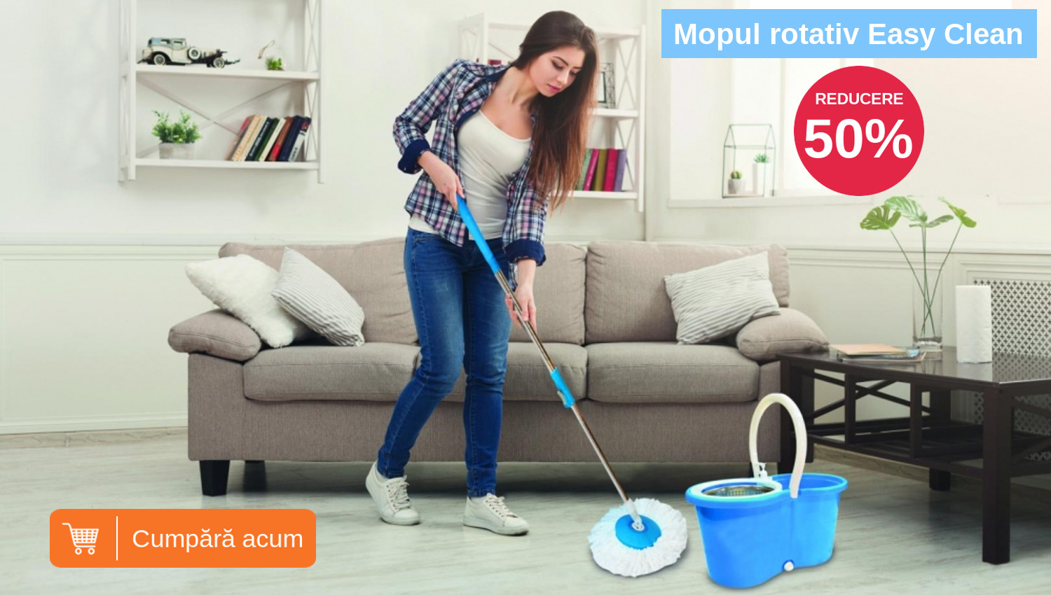 mop rotativ easy clean 360 promotie
