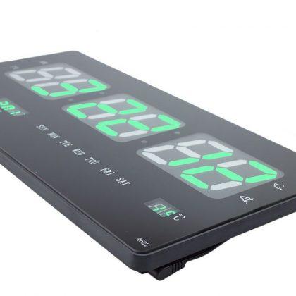 Ceas electronic de perete, led, termometru, data