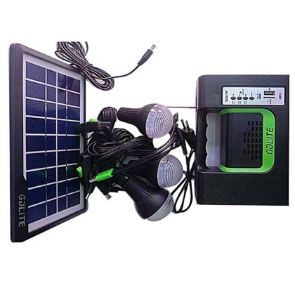 Kit incarcare solara, 3 becuri LED, MP3, Radio FM