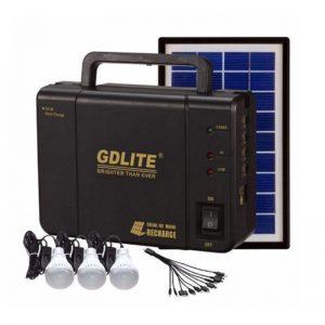 Kit panou solar, 3 becuri LED, acumulator, USB, GDLite GD-8006A