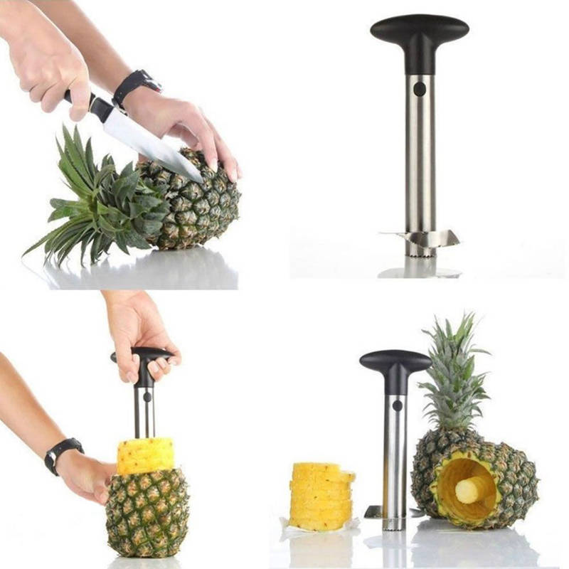 Aparat decojit si feliat ananas, inox
