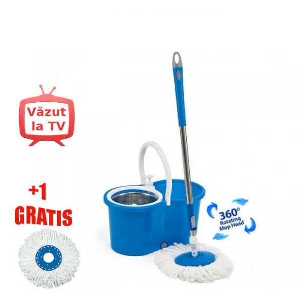 Mop rotativ Super Easy Clean 360 set de curatenie
