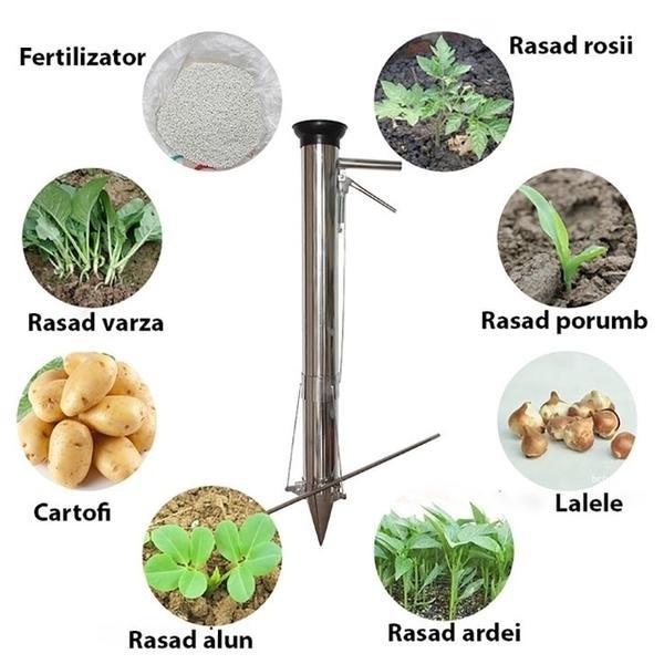 Plantator rasaduri manual din inox