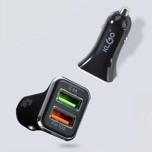 Adaptor incarcator de telefon pentru priza auto, 2 porturi USB