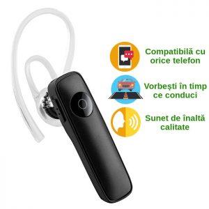 Casca handsfree bluetooth pentru telefon M165