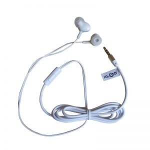 Casti audio cu fir si microfon, in-ear, control volum, KS-12