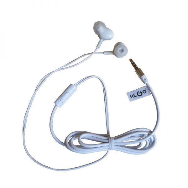 Casti audio cu fir si microfon, in-ear, control volum, KS-12