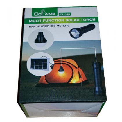 Kit panou solar cu bec LED si lanterna LED 3W