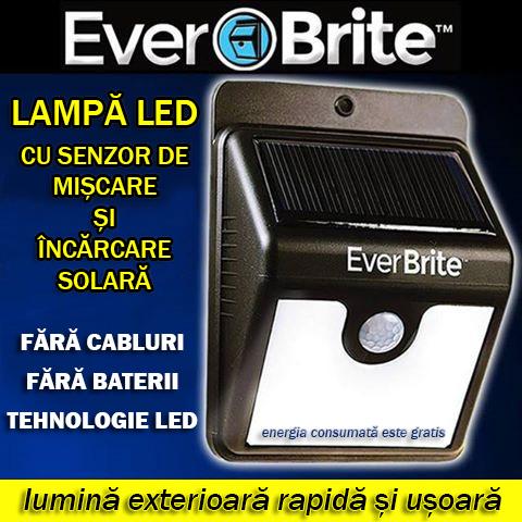 Lampa cu incarcare solara si senzor de miscare EverBrite