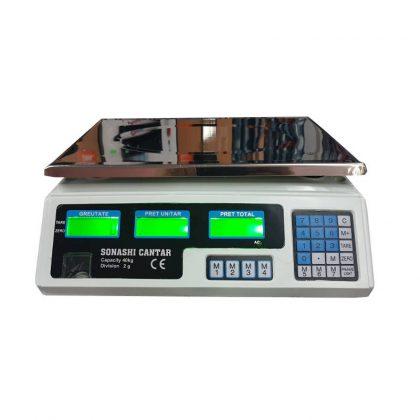 Cantar electronic cu acumulator, afisaj LCD, 40 kg