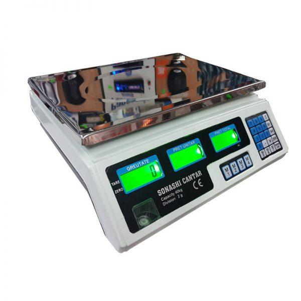 Cantar electronic cu acumulator, afisaj LCD, maxim 40 kg
