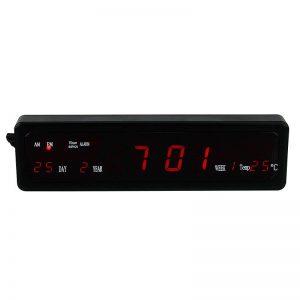 Ceas de masa digital cu afisaj LED, alarma, temperatura, data