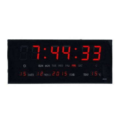 Ceas electronic de perete cu termometru, LED