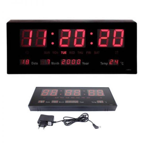 Ceas electronic de perete cu termometru, afisaj LED