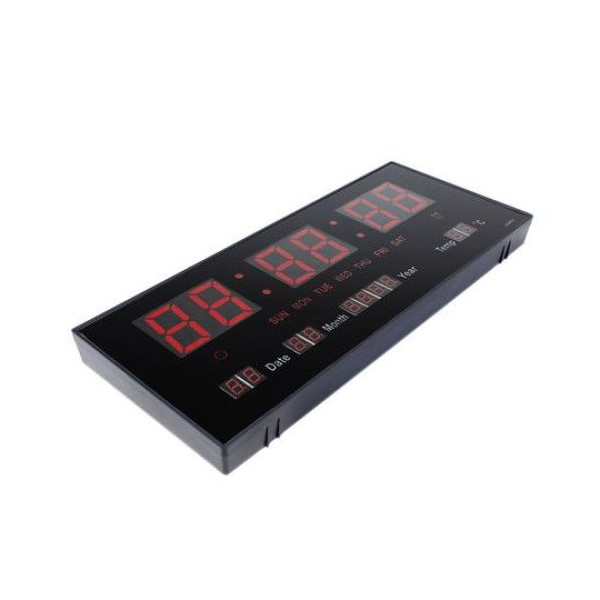 Ceas electronic de perete cu termometru, LED - model 3615