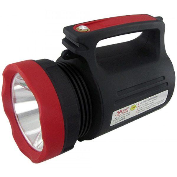 Lanterna LED cu acumulator profesionala si iesire USB pentru telefon, raza luminoasa 2000 metri