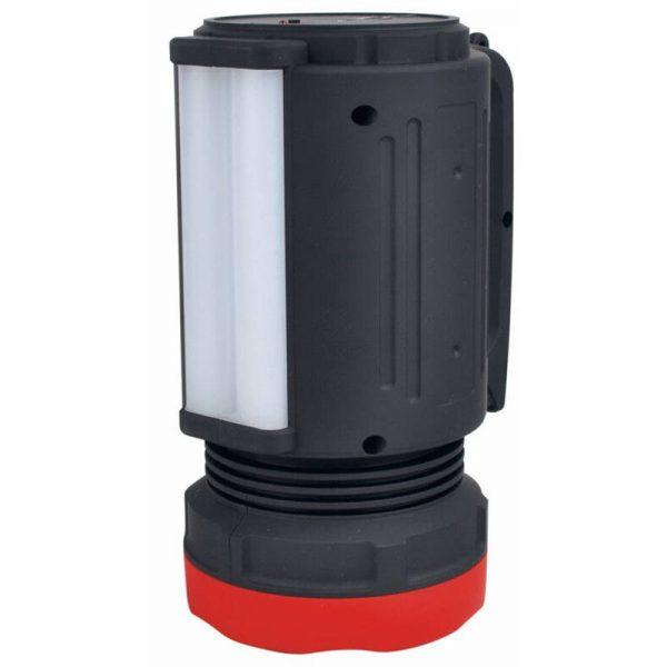 Lanterna LED cu acumulator si iesire USB pentru telefon, raza luminoasa 2000 metri