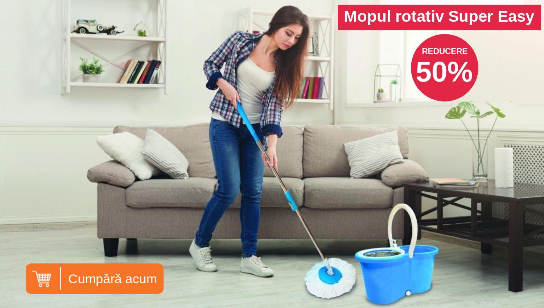 Reduceri la mop rotativ set de curatenie Super Easy Clean
