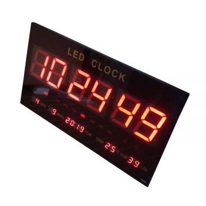 Ceas electronic de perete cu LED rosu, model 4622