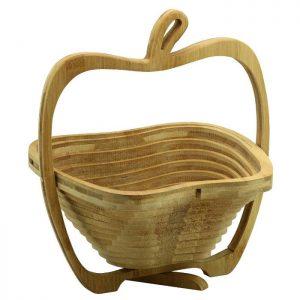 Cos fructe si legume din bambus, pliabil