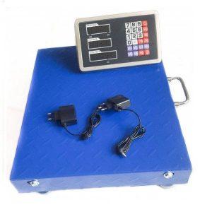 Cantar electronic 350 kg cu platforma metalica, afisaj LCD, fara fir, WiFi