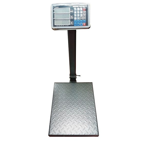 Cantar electronic cu platforma 350 kg, afisaj LCD, brat pliabil si platan metalic
