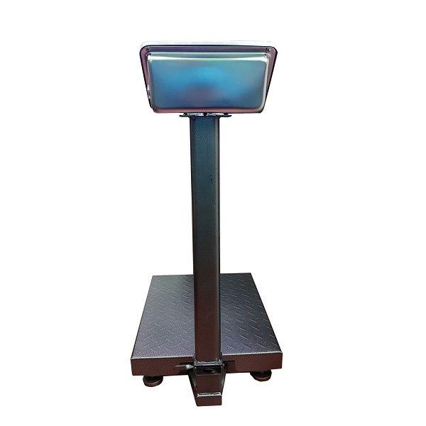 Cantar electronic cu platforma 350 kg, ecran LCD, brat pliabil si platan metalic