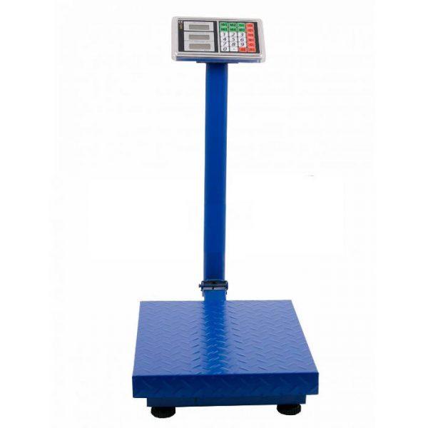 Cantar electronic cu platforma 500 kg, ecran LCD, brat pliabil si platan metalic