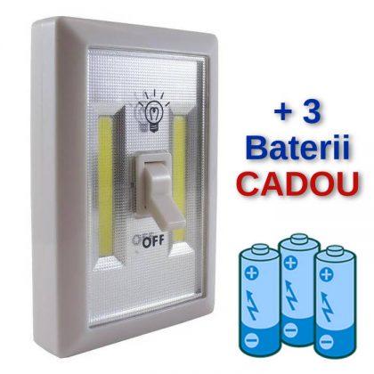 Intrerupator LED cu baterii, portabil