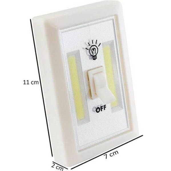 Intrerupator LED cu baterii, portabil, cu adeziv si magnet, Super Bright, plus 3 baterii cadou
