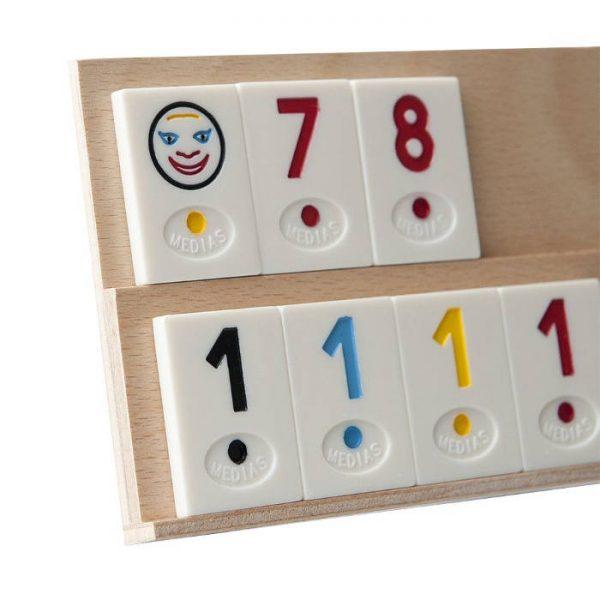 Joc de remi Medias din lemn 36.5x11.5x6.5cm, rummy