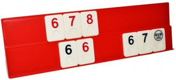 Joc de remi clasic cu piese din os 29x9x5.5cm, rummy