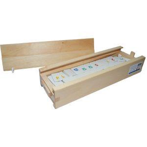 Joc de remi din lemn cu piese plastic 36x11x6cm