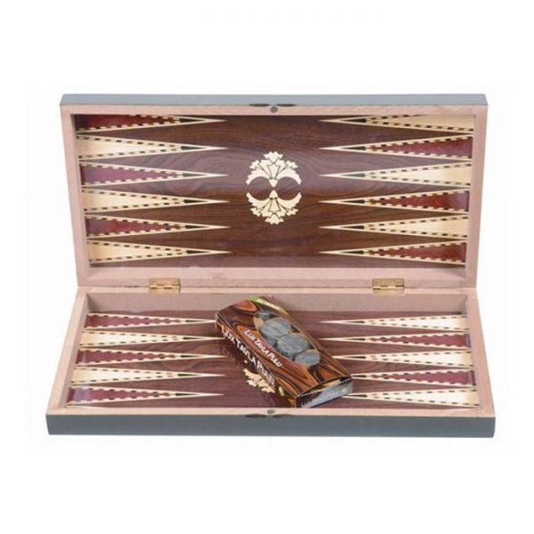Joc de table clasic cu cutie lemn maro 48.5x48.5cm