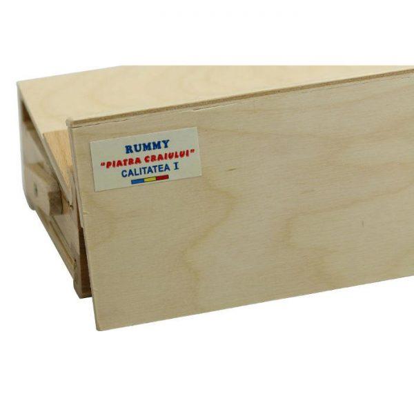 Joc remi Piatra Craiului din lemn 36x11x6cm, rummy