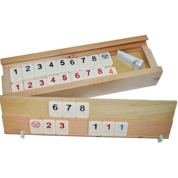 Joc remi din lemn 36x11x6cm, rummy