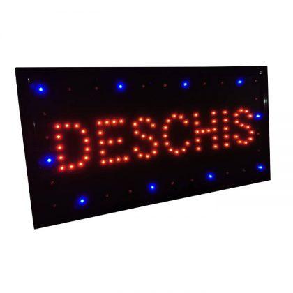 Reclama luminoasa DESCHIS cu leduri, 50x25cm
